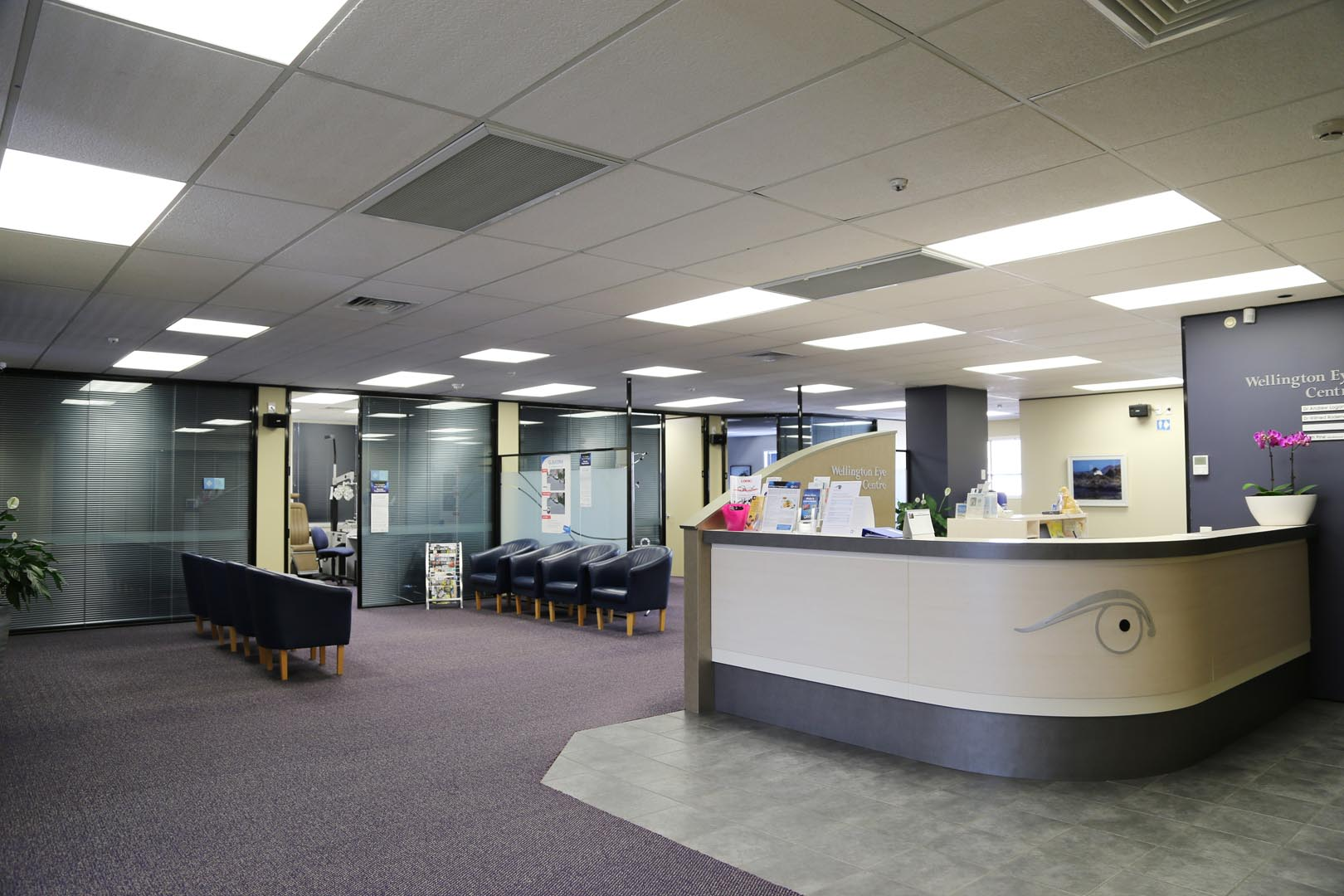 An Image of the Wellington Eye Centre Practice Reception in Wellington