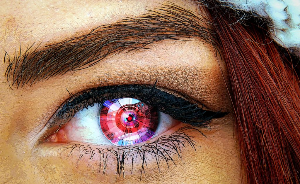 futurisitc robot cornea