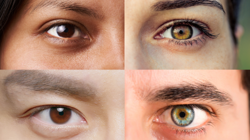 collage of eyes close up